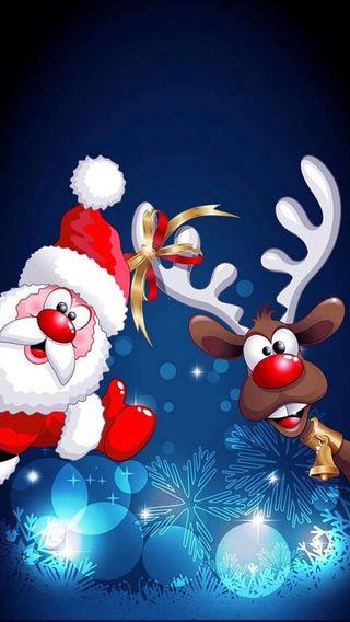 Обои на телефон санта, рождество, santa rudolph