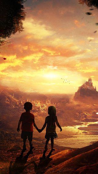 Обои на телефон сказочные, дети, мечта, fairy tales