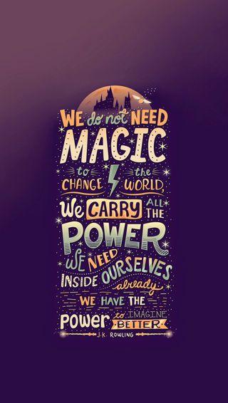 Обои на телефон не, мы, магия, высказывания, we dont need magic