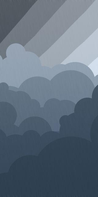 Обои на телефон облачно, синие, облака, небо, небеса, дождь, день, cumulus, cloudy day
