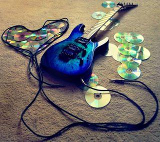 Обои на телефон гитара, синие, сердце, приятные, новый, музыка, крутые, инструмент, tunes, cd