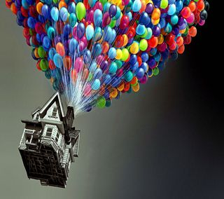 Обои на телефон фильмы, небо, дом, up, lg, house in the sky, g3, 2880x2560