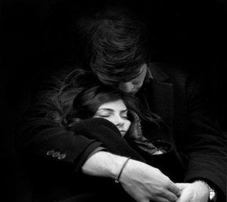 Обои на телефон обнимать, пара, любовь