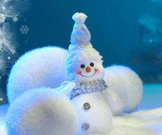 Обои на телефон снеговик, праздник, рождество
