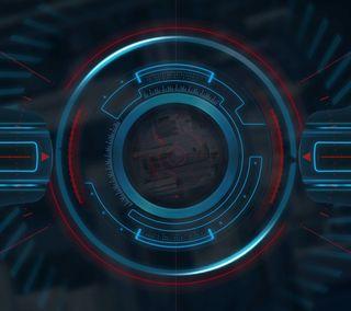 Обои на телефон компьютер, самсунг, кибер, глаза, абстрактные, samsung, eye of the cyber