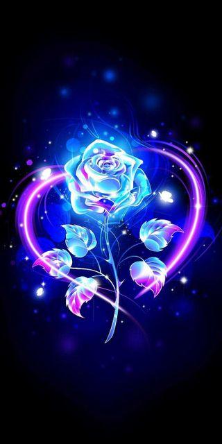 Обои на телефон цветные, светящиеся, розы, любовь, rose glow love, love
