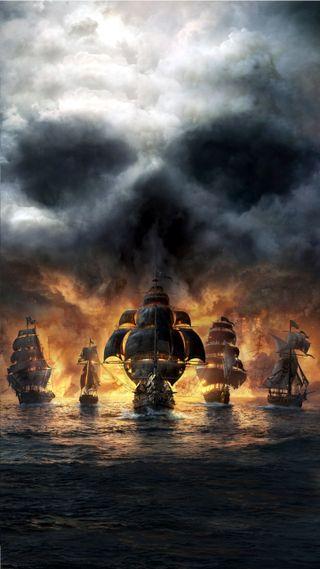 Обои на телефон пираты, лодки, corsaire