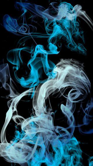 Обои на телефон дым, черные, синие, серые, белые