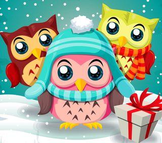 Обои на телефон сова, рождество, праздник, мультфильмы, милые, забавные, patter