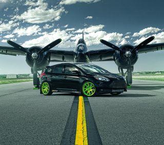 Обои на телефон двигатель, форд, фокус, тюнинг, машины, зеленые, ford focus st tuning, ford