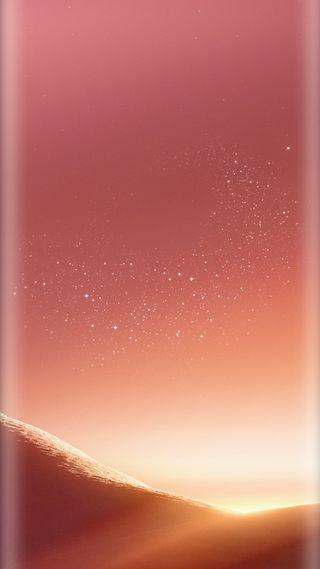 Обои на телефон стандартные, розовые, пустыня, песок, ночь, звезды, грани, галактика, s8plus, s8, galaxy s8