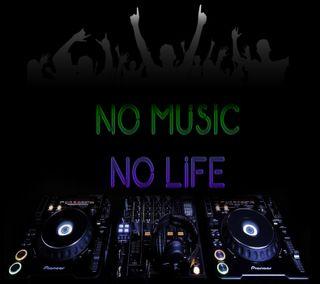 Обои на телефон цветные, музыка, жизнь, диджей, pionner, no music no life, dj