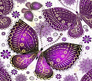 Обои на телефон цветочные, цветы, фиолетовые, векторные, бабочки, абстрактные