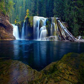 Обои на телефон водопад, река, приятные, прекрасные, милые, взгляд, river waterfall