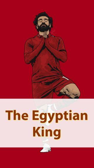 Обои на телефон ливерпуль, футбольные, футбол, король, египетский, salah egyptian king, salah, mo