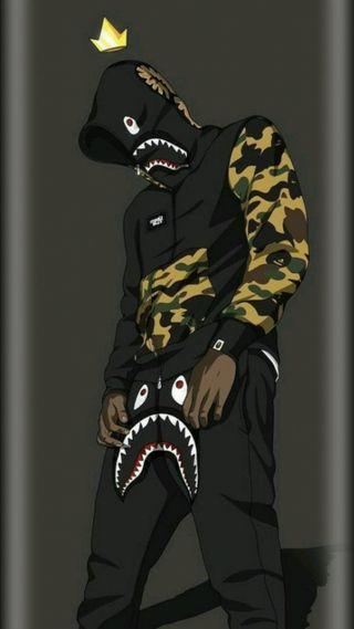 Обои на телефон хайп, бейп, зверь, грани, голова, акула, swag, supreme, hd, ahoodie