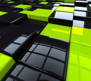 Обои на телефон кубы, черные, стекло, желтые, glass cubes