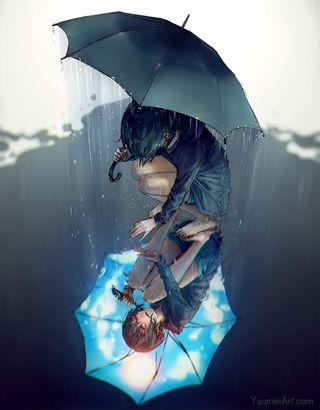 Обои на телефон тень, одиночество, дождь, день, девушки, грустные, аниме, sad rainy day, crying girl, cry