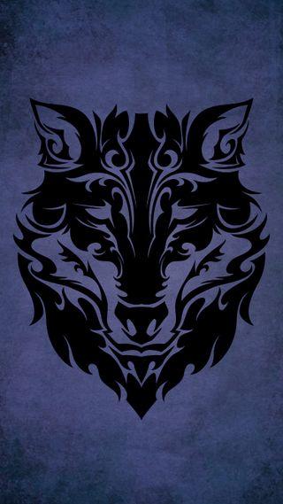 Обои на телефон племенные, черные, тату, животные, волк