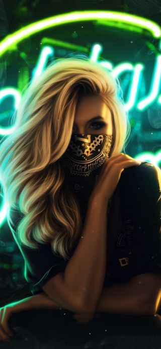 Обои на телефон женщины, граффити, маска, девушки, горячий, волосы, арт, wallcraft, blond, art