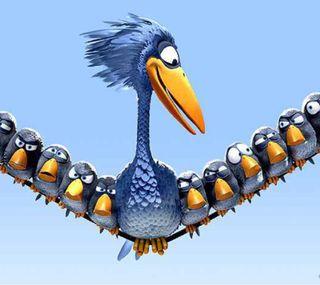 Обои на телефон синие, птицы, пиксар, маленький, злые, анимационные, big
