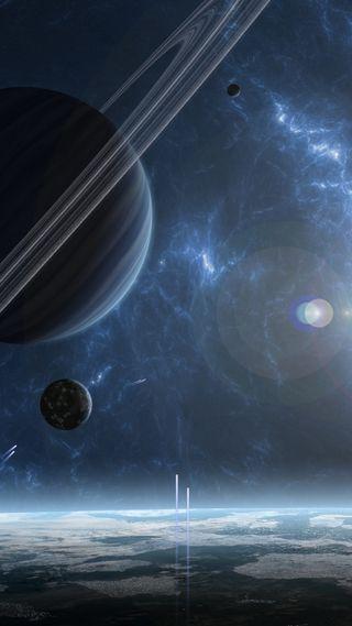 Обои на телефон солнечный, фиолетовые, система, планеты, планета, микс, космос, галактика, вселенная, universal, gente, galaxy