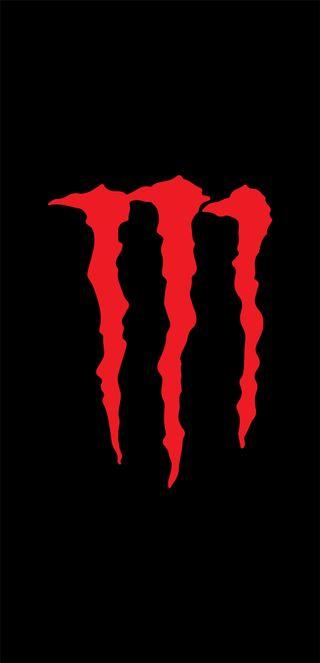 Обои на телефон энергетики, черные, мото, логотипы, красые, красные, monster, energizante, bebida