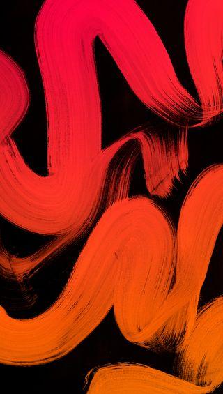 Обои на телефон линии, черные, рисунки, оранжевые, красые, арт, strokes, paintbrush art, hd, brush, art
