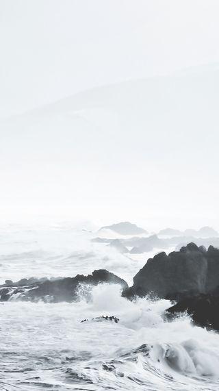 Обои на телефон черно белые, эпичные, океан, винтаж, wallpape, ocean epic, hd, bestresolution, 2016