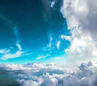 Обои на телефон облачно, синие, прекрасные, небо, милые, крутые, cloudy blue sky