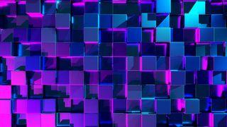 Обои на телефон кубы, черные, светящиеся, неоновые, матрица, куб, красые, абстрактные, neon cubes