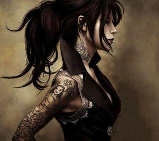 Обои на телефон рисунки, девушки, tattoos, girl with tattoos
