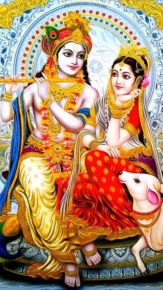 Обои на телефон радха, кришна, бог, radha krishna, goddess