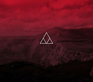 Обои на телефон solid, landscape design red, красые, дизайн, пейзаж, цветные, минимализм