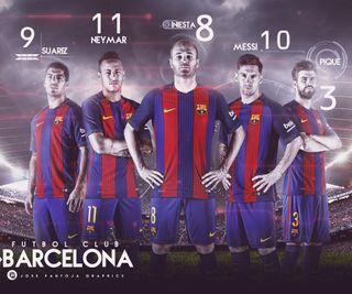Обои на телефон футбольные клубы, суарес, неймар, месси, барселона, pique, iniesta, fc barcelona 2017