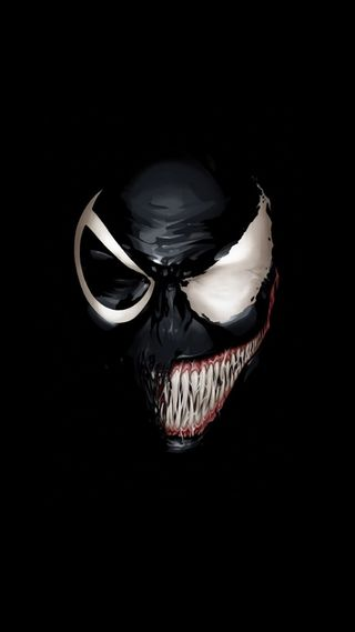 Обои на телефон веном, черные, человек паук, марвел, лицо, крутые, комиксы, marvel