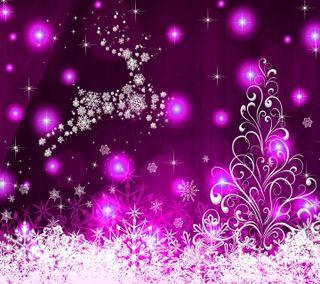 Обои на телефон векторные, фон, фиолетовые, рождество, абстрактные, purple christmas, purple background