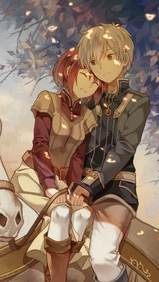 Обои на телефон дзен, снег, любовь, красые, корабли, волосы, белые, аниме, zen x shirayuki, snow-white with red hair, shirayuki, love