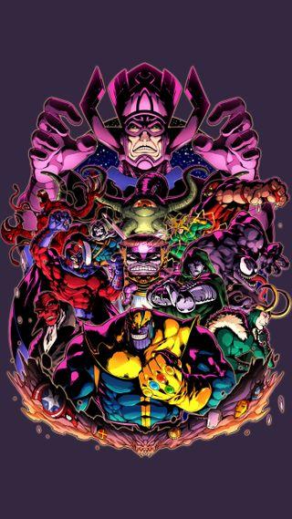 Обои на телефон доктор, череп, танос, марвел, локи, красые, дум, веном, бойня, red skull, marvel villains, marvel, magento, galactus, doctor doom