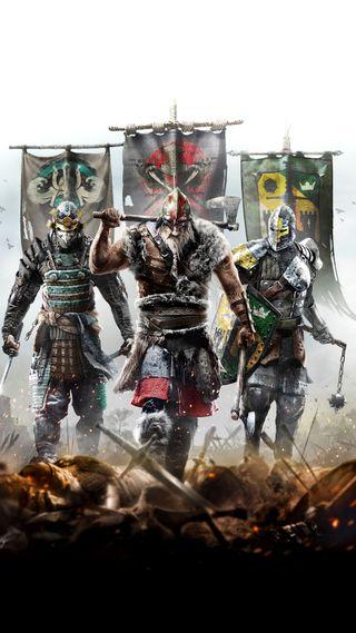 Обои на телефон честь, самурай, рыцарь, игры, викинг, for honor, 1080x1920