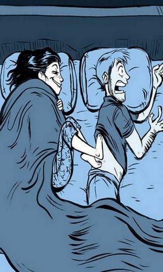 Обои на телефон холод, сон, пара, любовь, зима, забавные, веселые, love, couple in winter