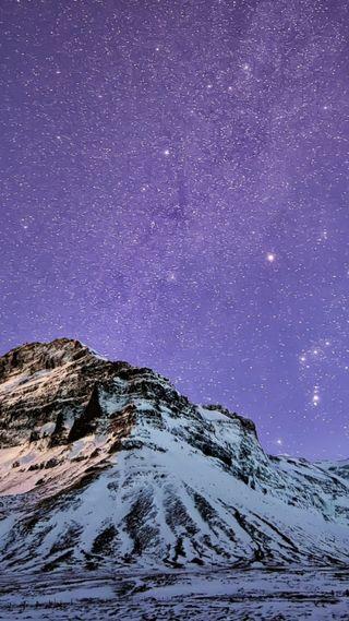 Обои на телефон фиолетовые, снег, природа, небо, космос, звезды, галактика, galaxy
