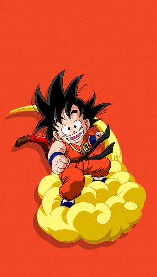 Обои на телефон облака, мяч, малыш, магия, дракон, гоку, kid goku magic cloud, dragon ball z