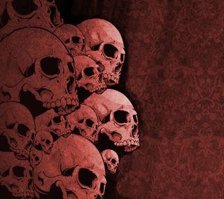 Обои на телефон мертвый, череп, красые, кость