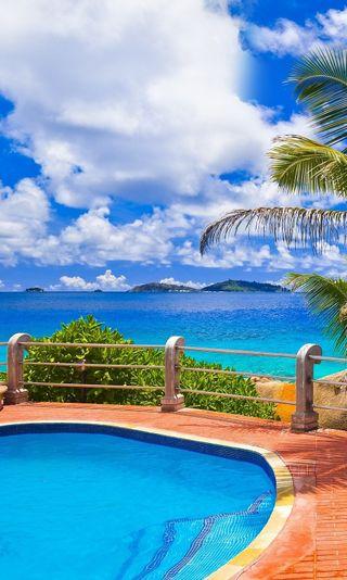Обои на телефон роскошные, релакс, праздник, плавание, отпуск, курорт, вид, pool with a view, pool, luxury