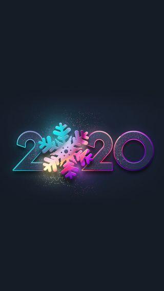 Обои на телефон числа, каникулы, цветные, снежинки, новый, дизайн, welcome to 2020, hd, 2020