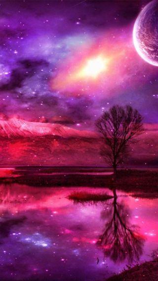 Обои на телефон планета, фантазия, северный, свет, розовые, любовь, аврора, love, fantasy planet