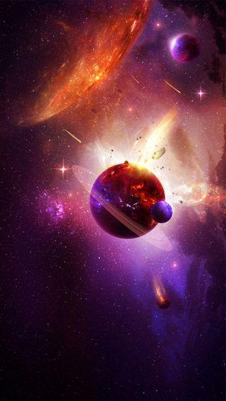 Обои на телефон солнце, планета, космос, ночь, небо, земля, звезды, галактика, galaxy