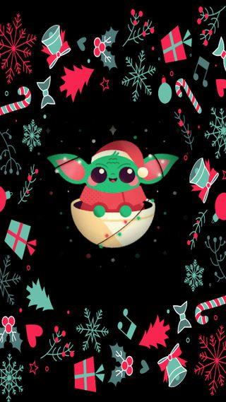 Обои на телефон рождество, праздник, милые, мандалорец, малыш, йода, доблесть, блестящие, whatever, go