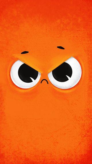 Обои на телефон безумные, рисунки, персонажи, оранжевые, мультфильмы, лицо, злые, глаза, i am angry